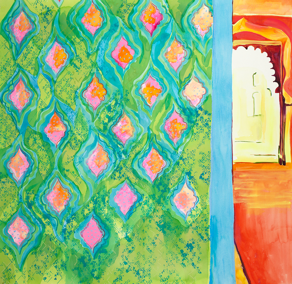 "DOOR TO DARBAR HALL    48"" x 51"""