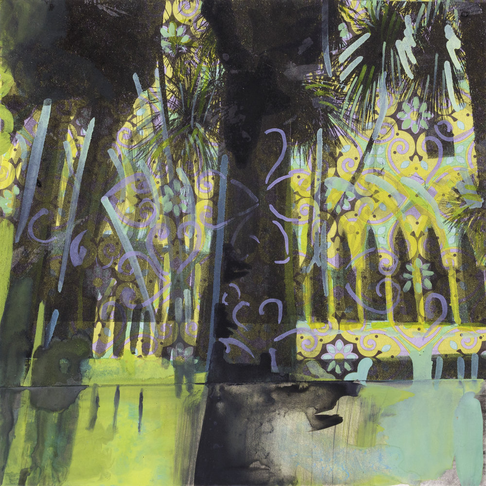 "CLOISTER OF PARADISE   6"" x 6"""