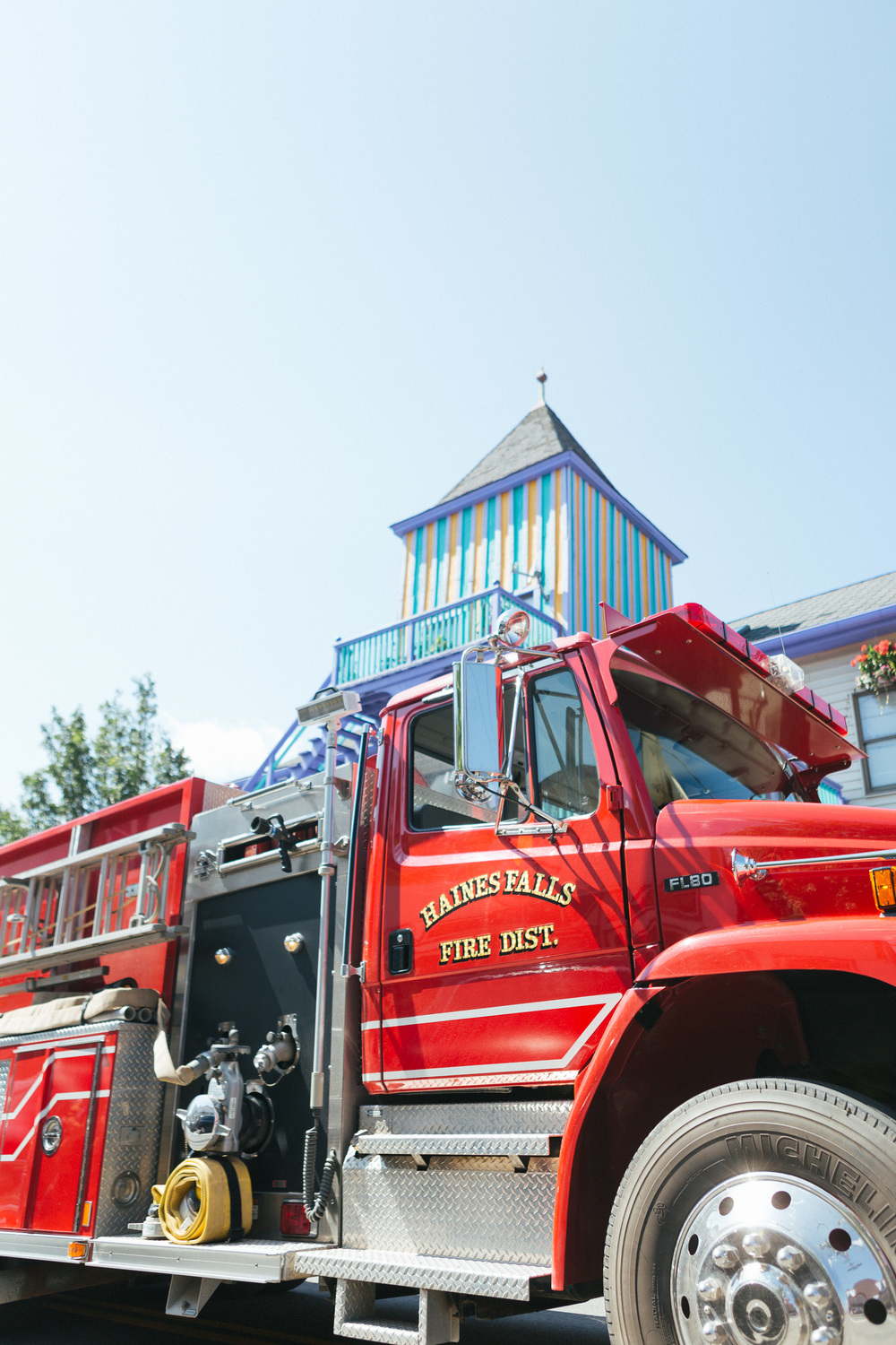 Haines Falls Fire Department Truck passes during the Tannersville Parade.jpg