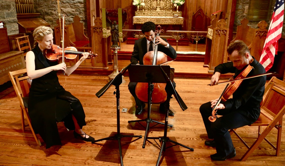 The Helena Baillie String Trio performs Bach's Goldberg Variations at All Souls Church (August, 2014)