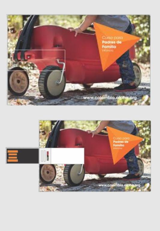 Curso USB para Padres con Hijos Infantes - USB + guía líder pdf + Manual Invitado con todo el contenido de las sesiones + Material promocionalValor: 45.000