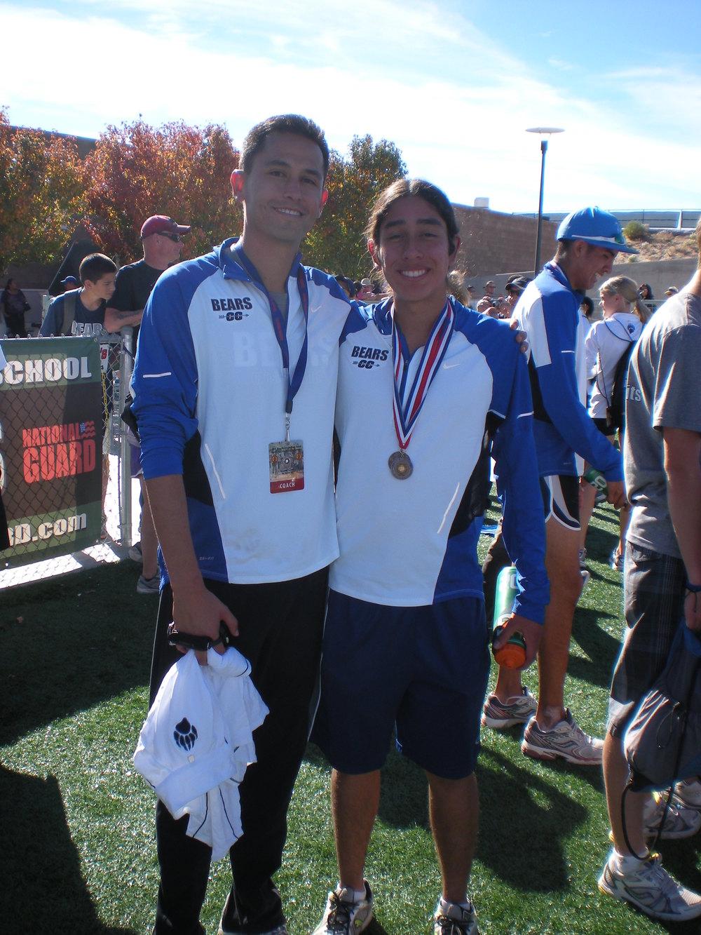 Coach Nick Martinez & 2010 State Champion Kyle Fast Wolf