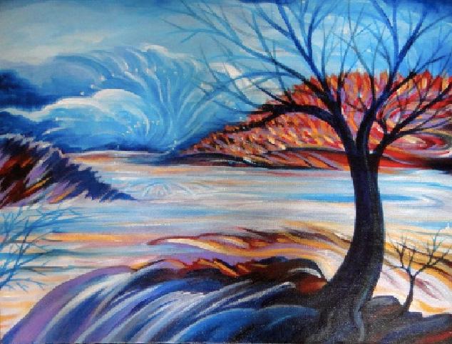 Ellen Clark Acrylics, Watercolor email Images