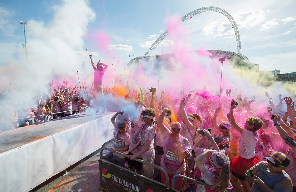 Wembley Park hosts the hugely popular Color Run.
