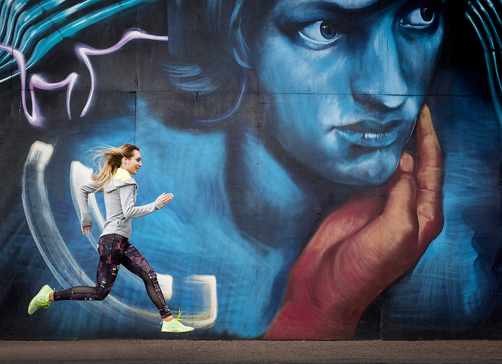 Sandra Poz sport shoot.Photo credit : Chris Winter