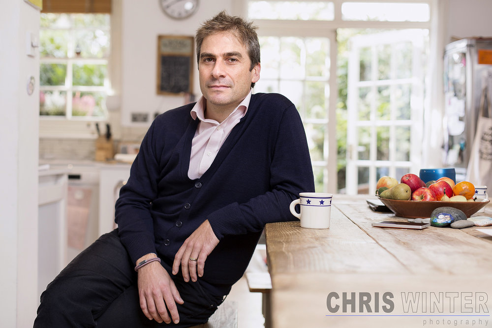 Portraits of Gerard Grech shot at his home in North London.