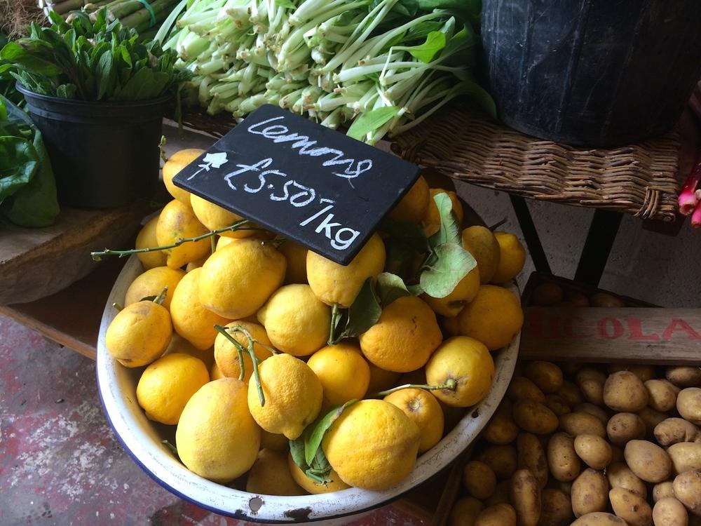 Sicilian lemons at Reiss Verrow