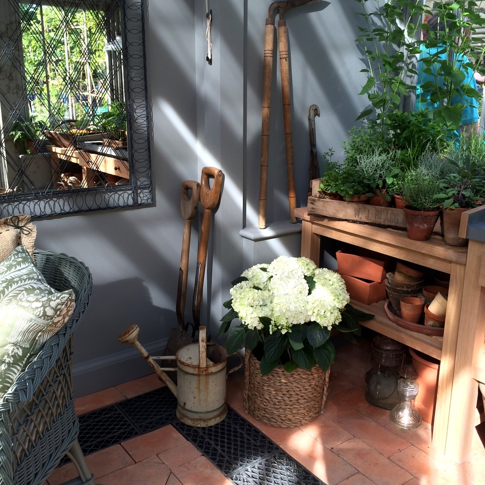 Potting shed area in the conservatory