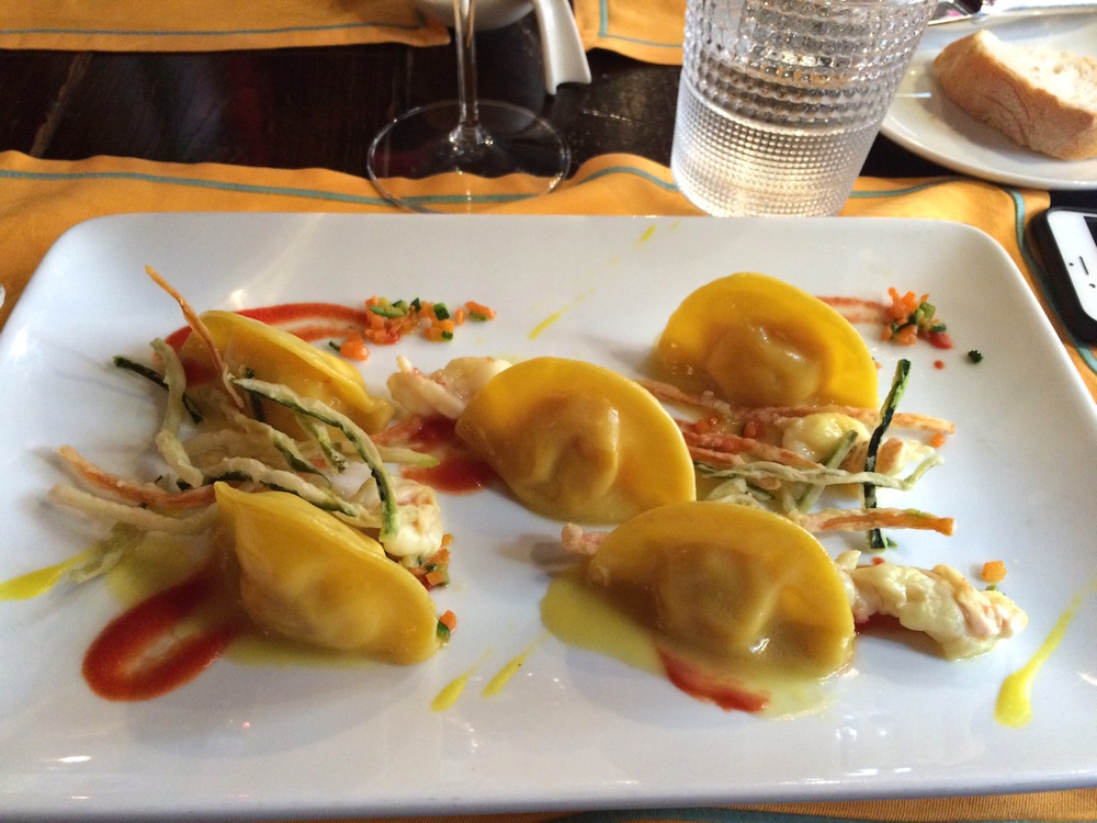 Seafood ravioliat La Caravella