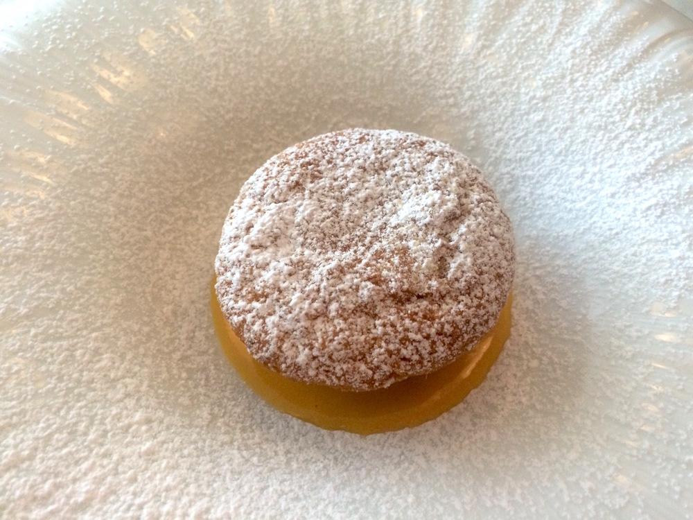Piedmonte almond cake with zabaglione sauce