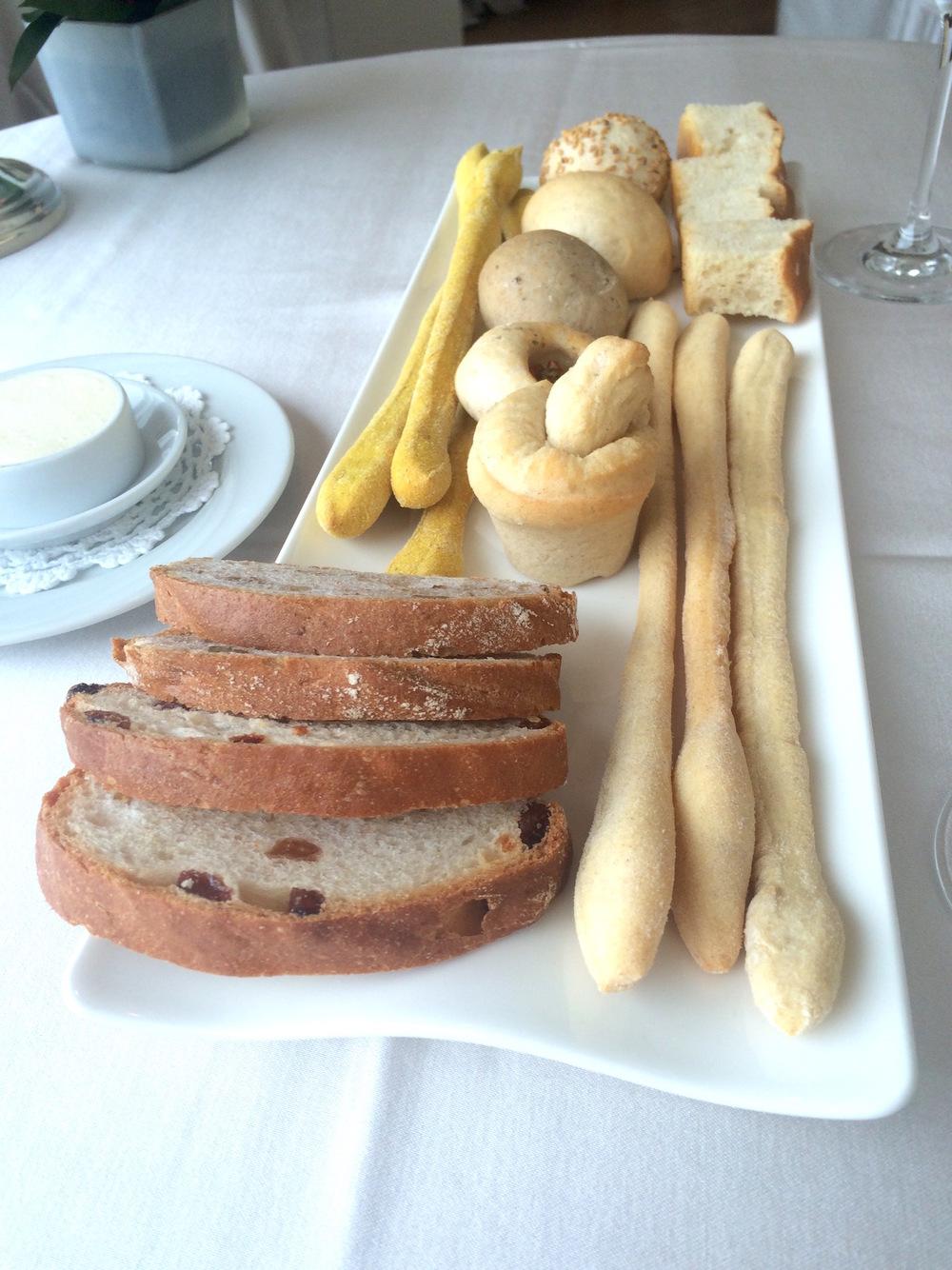turmeric bread sticks at Esplanade in Desenzano del Garda