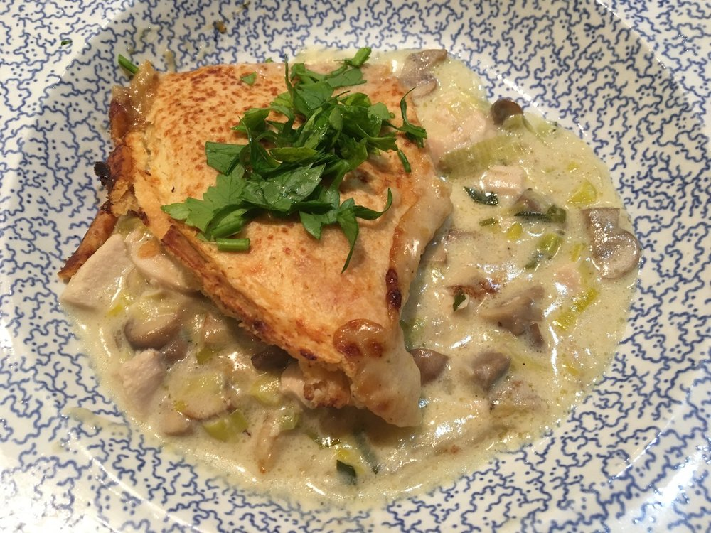 Chicken Pot Pie with tarragon & mushrooms