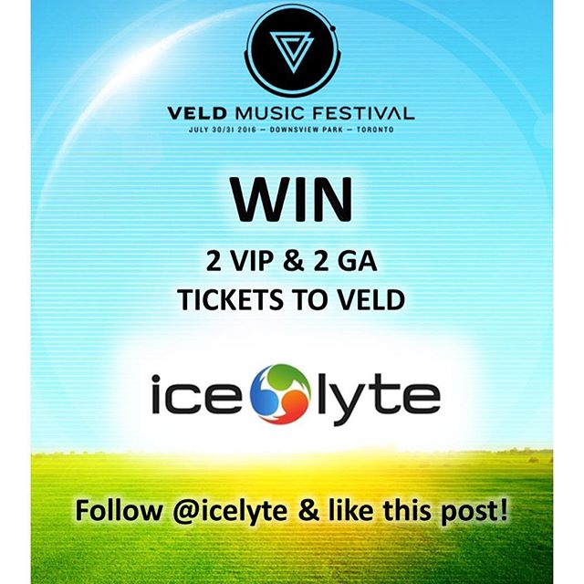 Follow @icelyte and like this post to WIN 2 VIP and 2 GA passes to VELD Music Festival this weekend ✔️