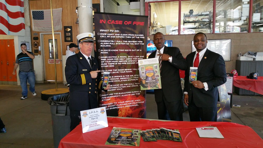 Featured in the picture above from left to right, Orange Fire Chief, Orange Township Mayor, the Honorable Dwayne D. Warren, Esq. and Orange Fire Director, Kenneth M. Douglas.