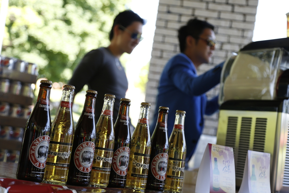 Enjoying the summer heat while we spread the love of #FrozenBeer