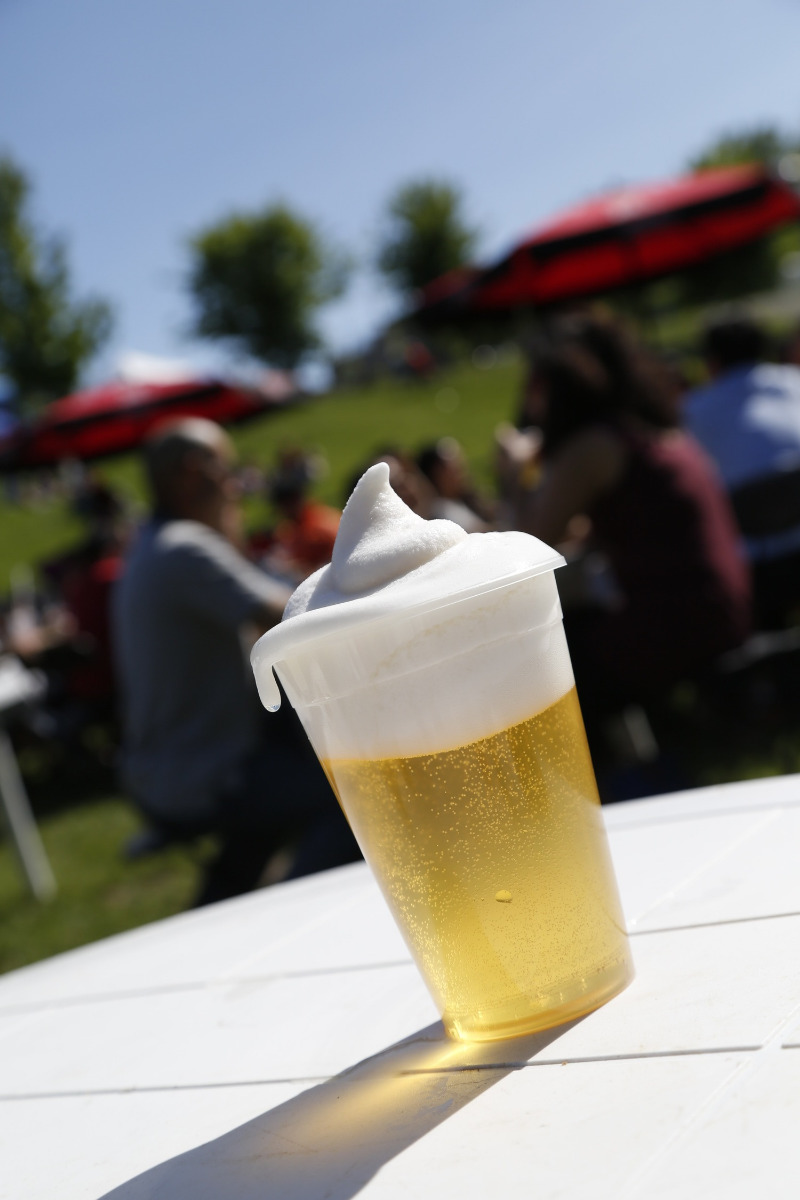 Delicious Frozen Beer at the Christie Pits.  PHOTO CRED TO: @henryleephotogr