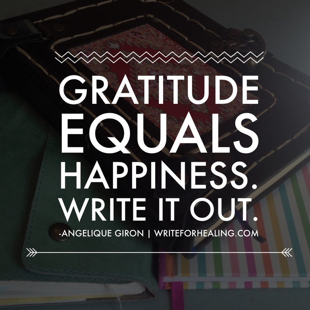 Practice being happy. Write about it.