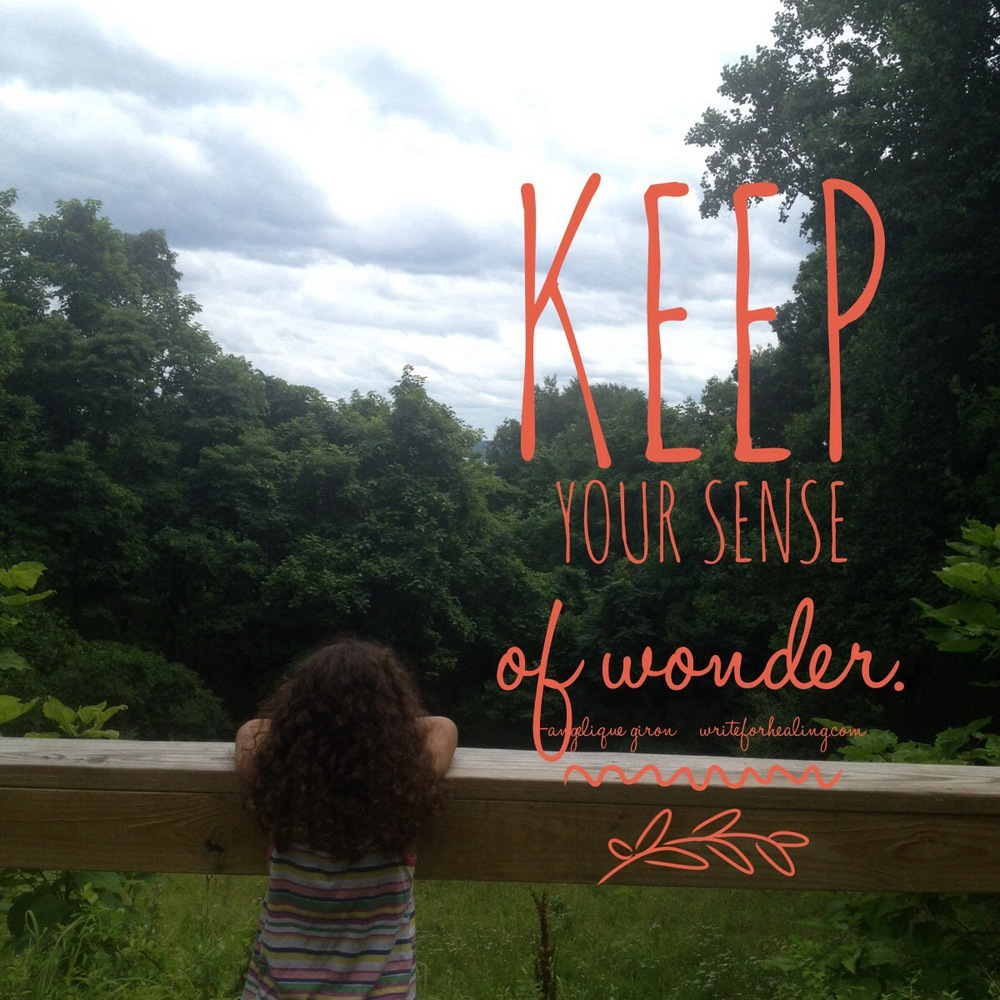 Child-like wonder is the best. My beautiful Olivia showing us how to do it.