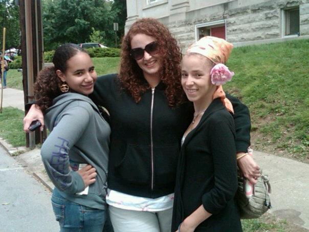 My niece, sister, me in 2010.