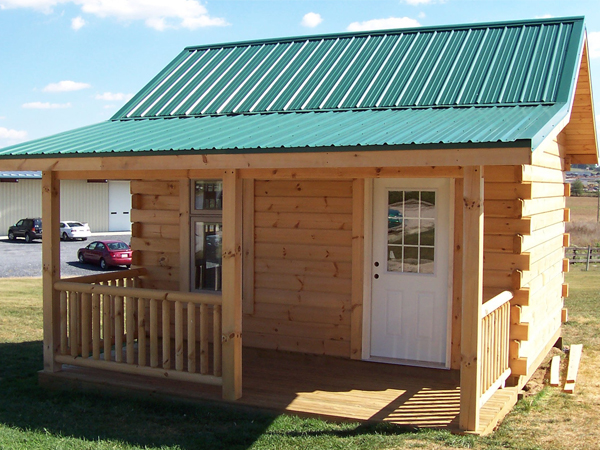 The FOX Series   At 192 square feet of living space, the Fox Series is the smallest of Brock's Log Cabins Series.  The open floor plan gives you the flexibility to tailor your cabin to fit your individual needs. The Fox Series is the perfect hideaway for the weekend.