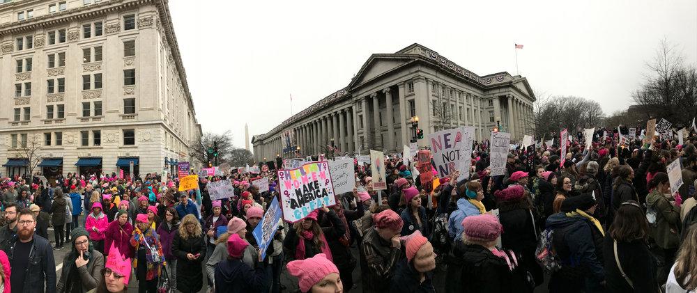 Women's March, Washington, DC January 21, 2017. Photo: Art Chang