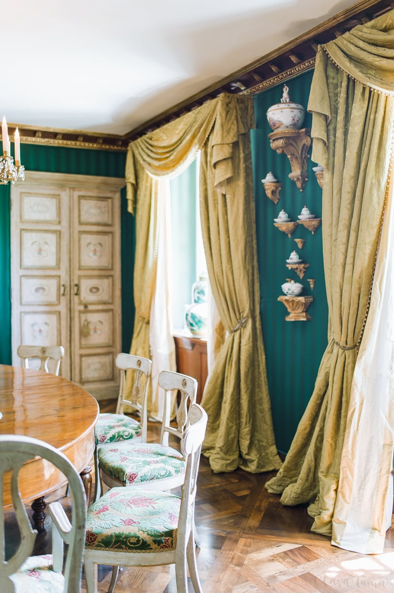 Caroline Scheufele's home. The private dining room.