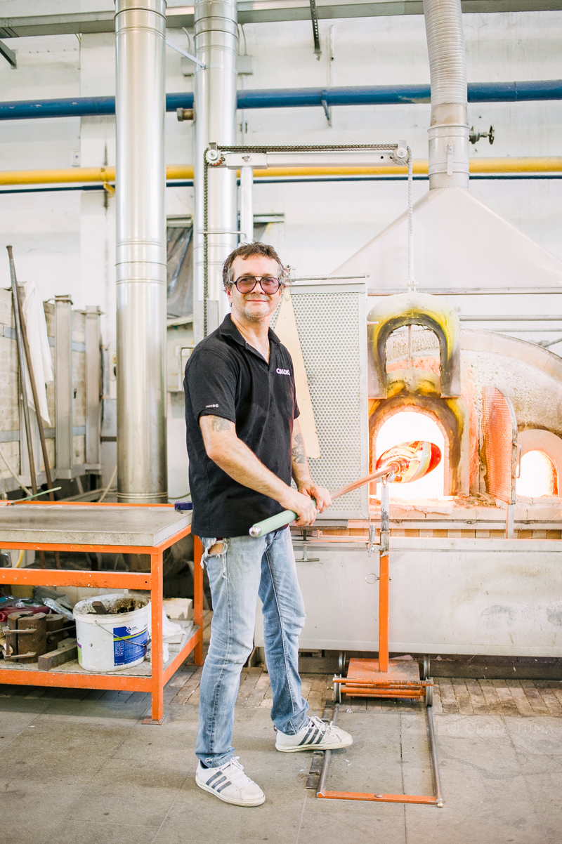 Massimiliano Schiavon Furnace and glass blowers