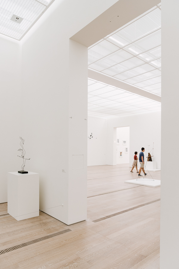 The interior exhibition space at Fondation Beyeler in Riehen/Basel (Switzerland). Current exhibition is Alexander Calder and Fischli/Weiss, running from 29 May through 4 September 2016.
