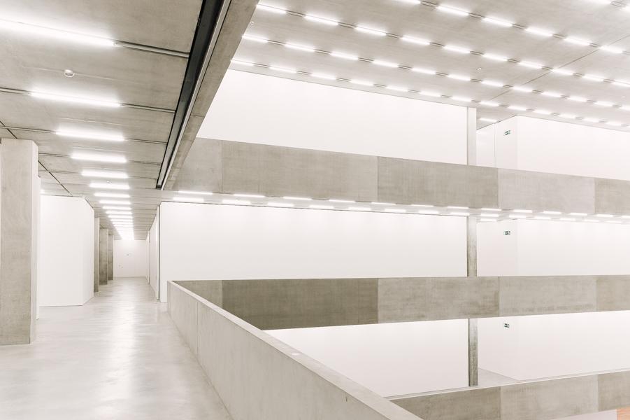 Interior of the multi-floor Schaulager, Münchenstein/Basel, Switzerland.