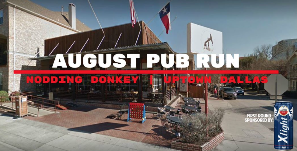 August Pub Run Dallas Texas The Nodding Donkey