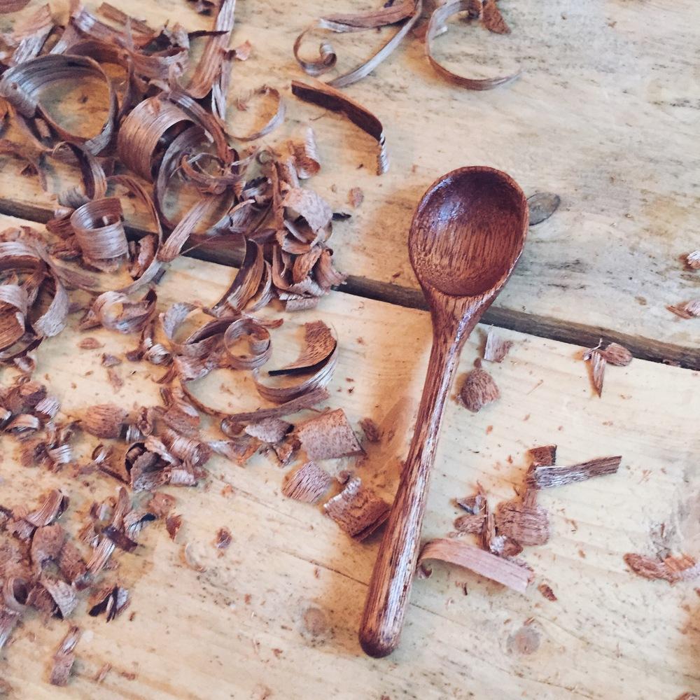 spoon carving workshop handmade in london