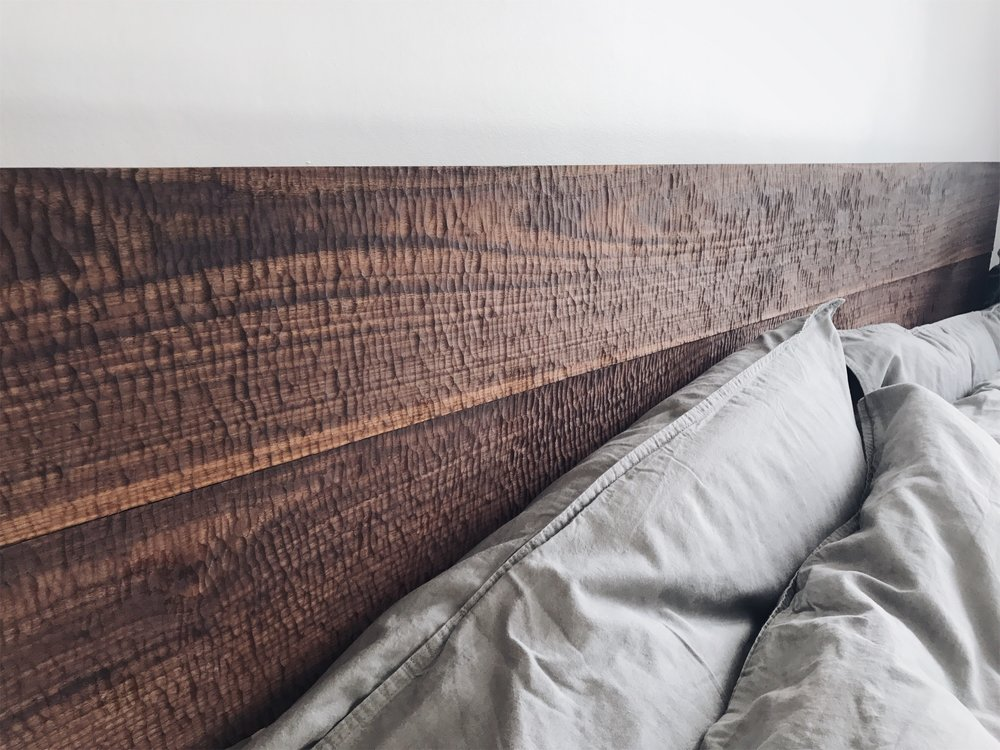 Grain and knot headboard