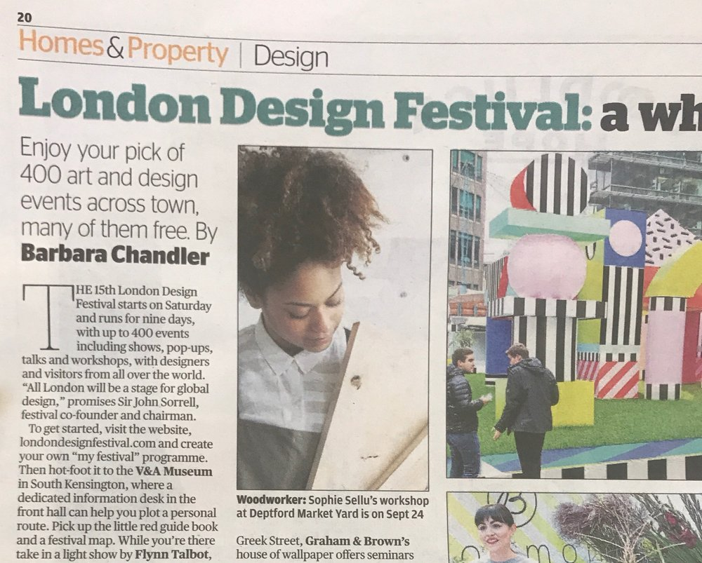 Metro   September 2017  Makers House for London Design Festival