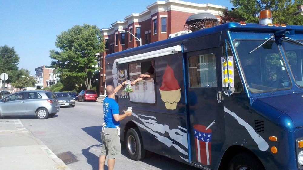 Ice Cream truck at Whitelock