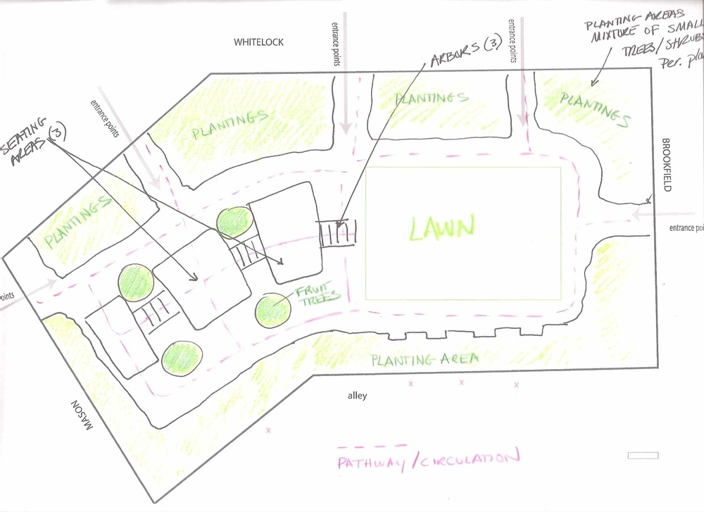 South Whitelock site plan sketch 2