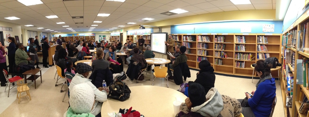 Visioning session at John Eager Howard School on the 11th of February 2014