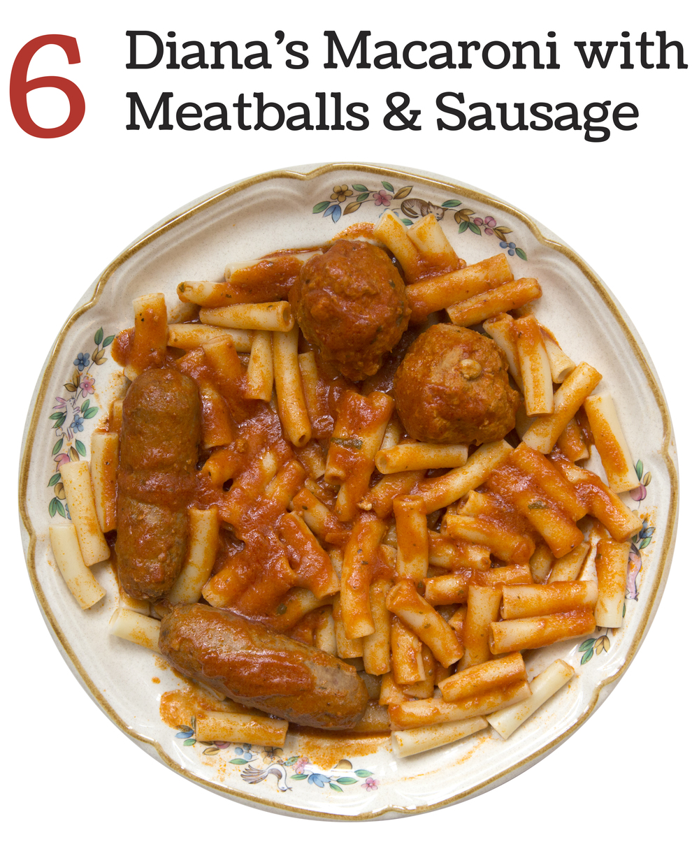 6     Diana's Macaroni with Meatballs & Sausage