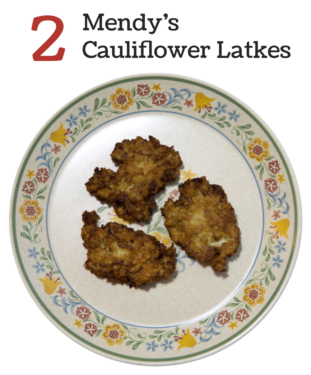 2 Mendy's Cauliflower Latkes