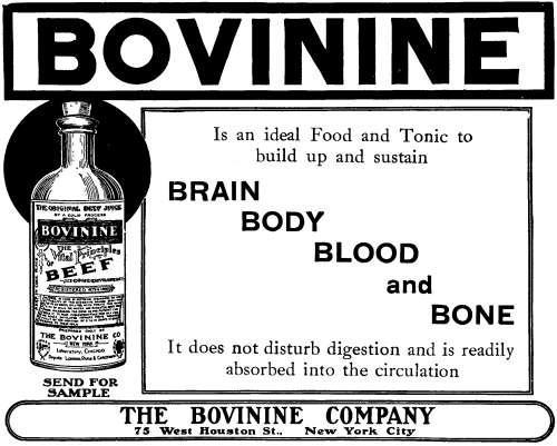 bovinine ad, 1909
