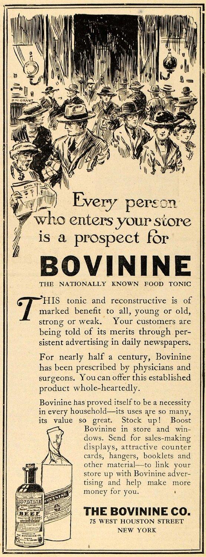 bovinine ad, 1920