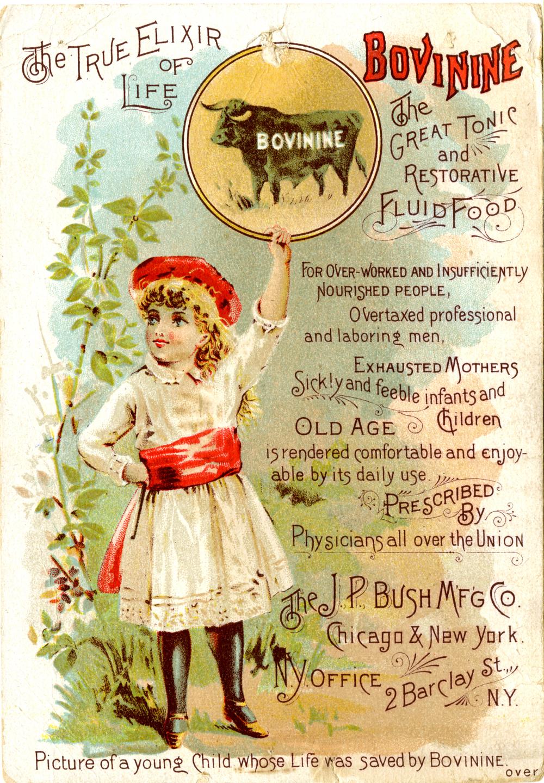 bovinine ad, 1885
