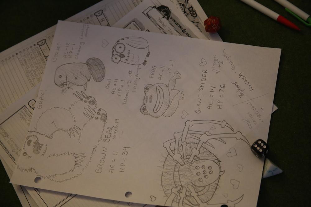 Izzy's animal forms