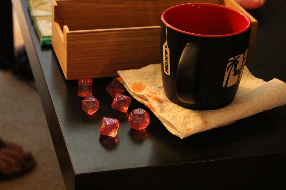 What is best in life? Dice and tea
