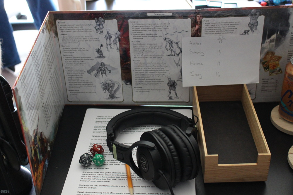 A quick look behind the DM screen...