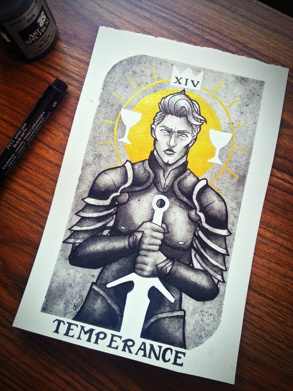 "Velvet League Tarot: Prince Horace Kemp as ""Temperance"""