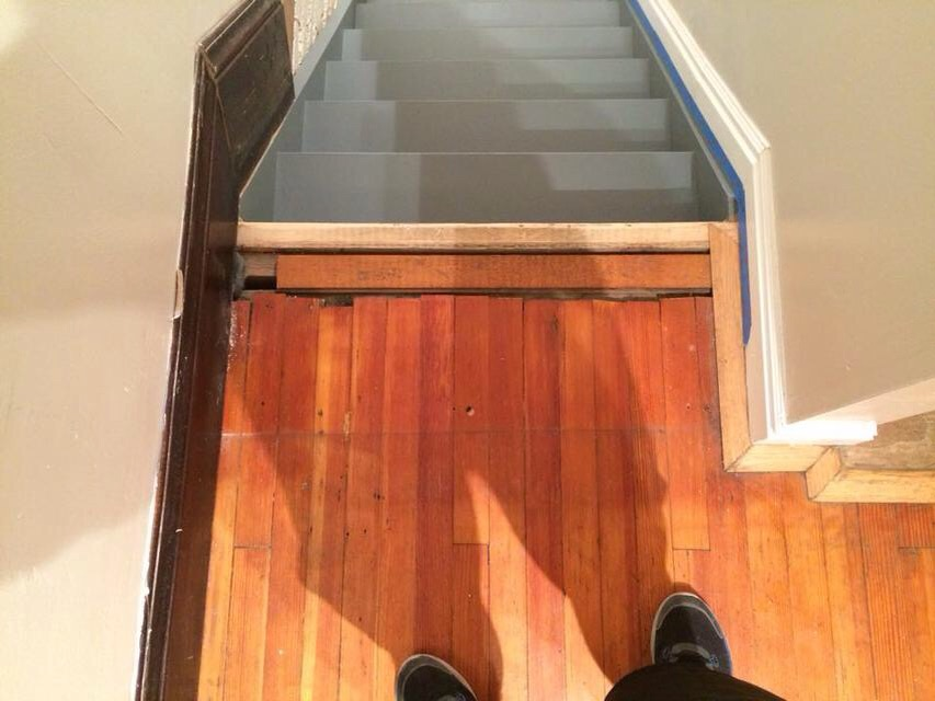 Stair Threshold: Before