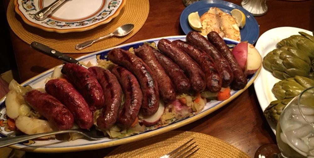 - Sausages