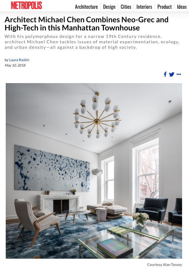 IA Work in Metropolis Magazine — NYC General Contractor and