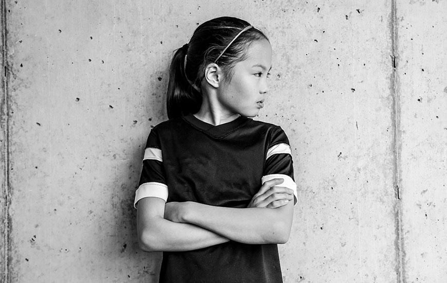 """Annika, 9.  """"Quando eu crescer vou ser arquiteta e jogadora de futebol profissional"""""""