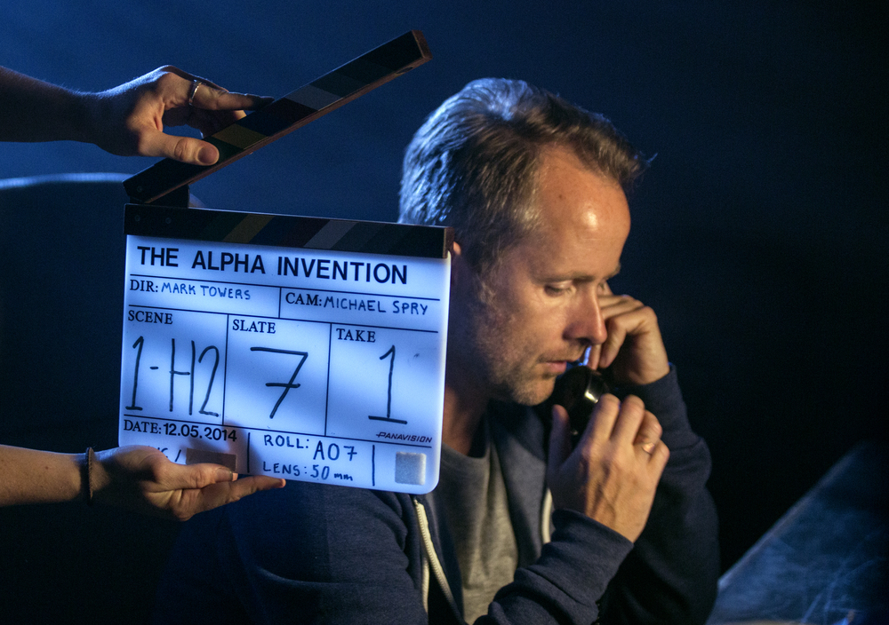 Billy Boyd on the set of The Alpha Invention